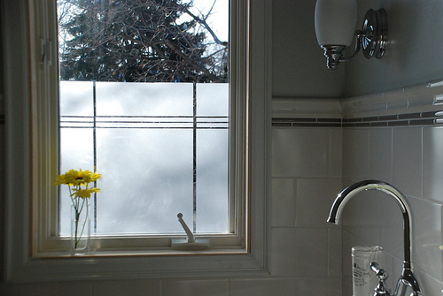 Creating privacy in the bathroom with window film